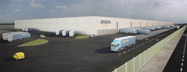 Así quedará la Estación Logística de Amazon en Sevilla.