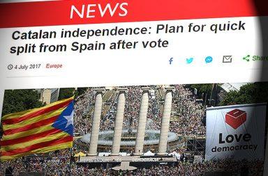 El independentismo en la prensa internacional.