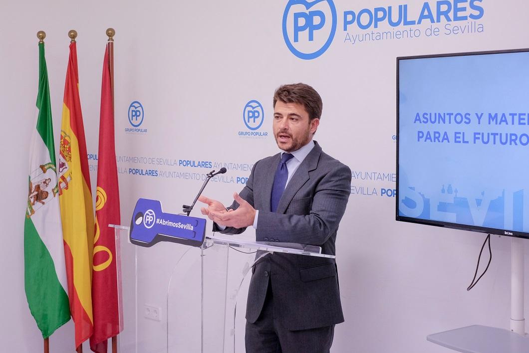 Beltrán Pérez, portavoz del PP en el Ayuntamiento de Sevilla. FOTO. Lince.