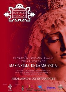 Cartel exposición conmemorativa Virgen de la Angustia de los Estudiantes