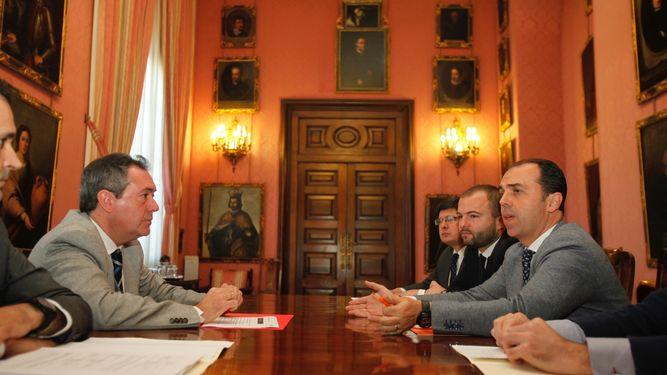 Juan Espadas y Javier Millán, de Ciudadanos.