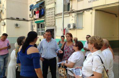 Espadas visita San Pablo cuando era líder de la oposición.