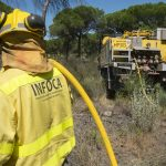 Nuevo incendio forestal en El Ronquillo, ya estabilizado