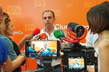 Javier Millán, portavoz del Grupo Municipal de Ciudadanos en el Ayuntamiento de Sevilla.