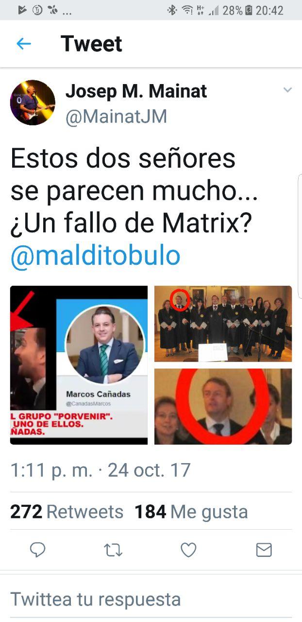 Tuit contra Marcos Cañadas.