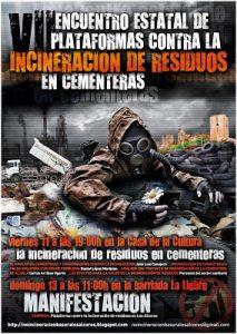 Cartel sobre unas jornadas contra la cementera de Alcalá de Guadaíra