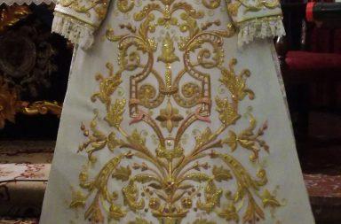 Saya de salida restaurada Virgen de Guadalupe / Hermandad de las Aguas