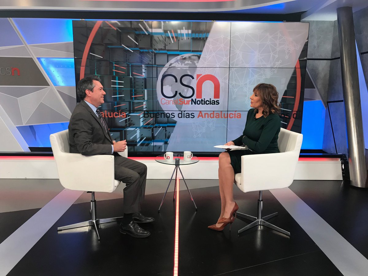 Juan Espadas, entrevistado en Canal Sur TV.