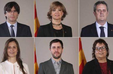 Parte del gobierno catalán cesado.