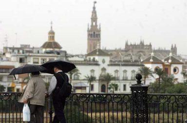 Lluvia en Sevilla.