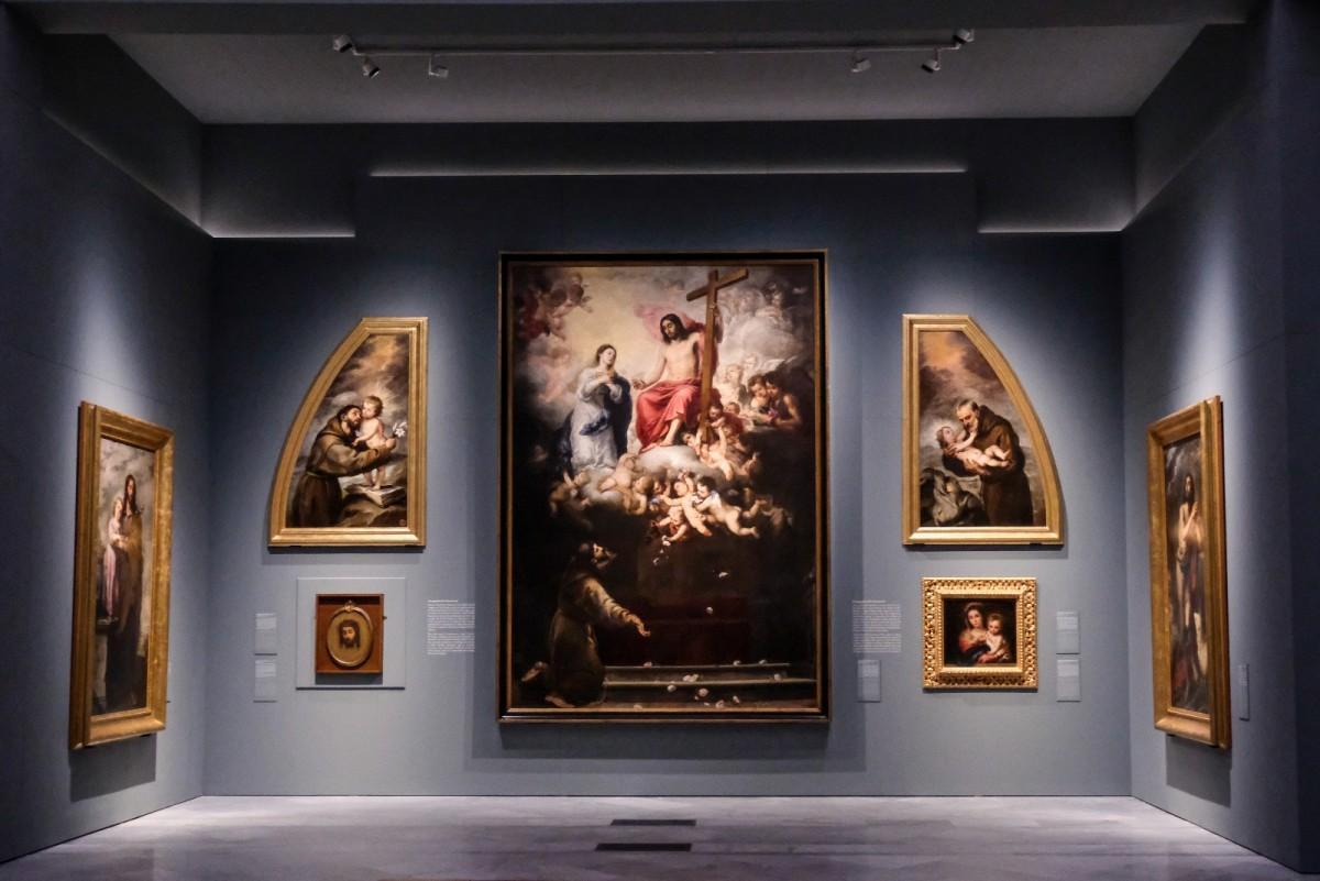 Algunas de las obras de Murillo expuestas en el Museo de Bellas Artes.