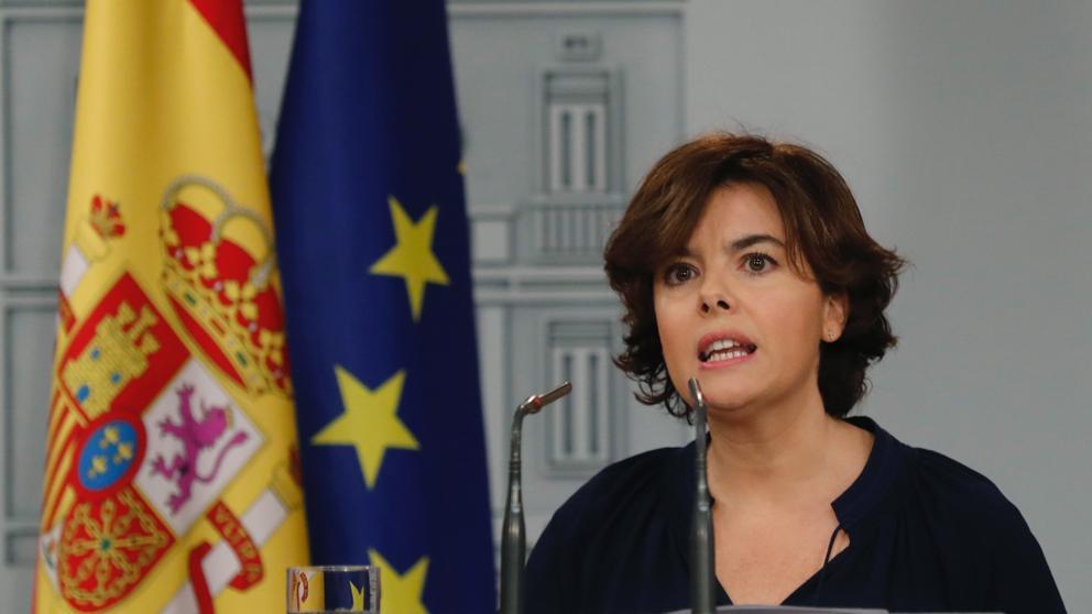 Soraya Sáenz de Santamaría, vicepresidenta del gobierno de España.