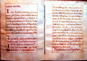 Libro de reglas de la O encontrado en Madrid de 1686 / Hermandad de la O