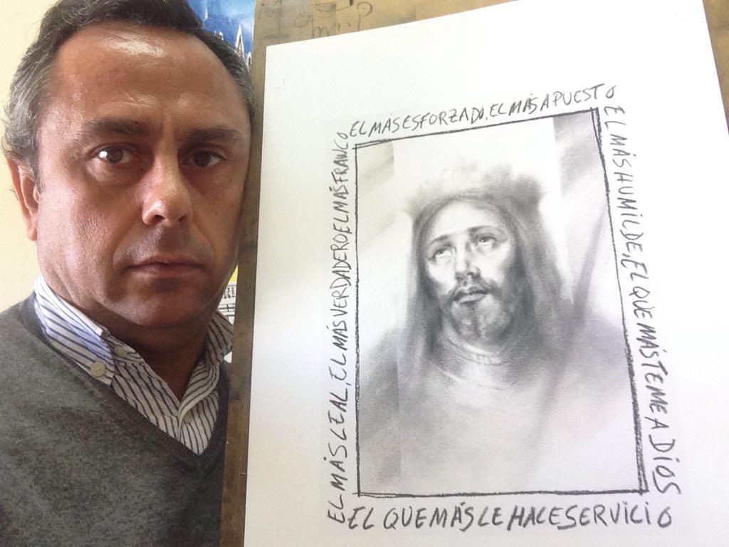 El pintor y profesor de CEU Andalucía refleja en su obra su homenaje a image1Murillo