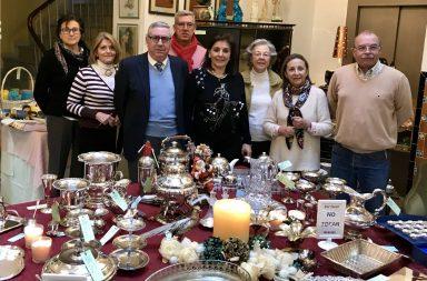 Inauguración del Mercadillo de Navidad de Cáritas Sevilla.