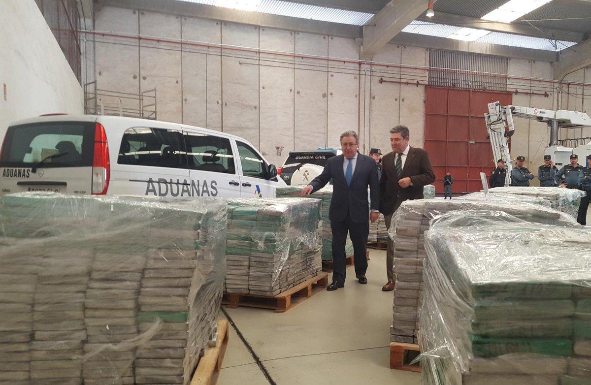 Se trata del mayor alijo de cocaína incautada en España en 18 años.