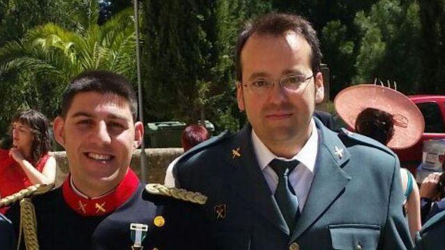 Los dos guardias civiles fallecidos.
