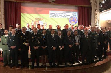 Entrega de Medallas al Mérito de Protección Civil.