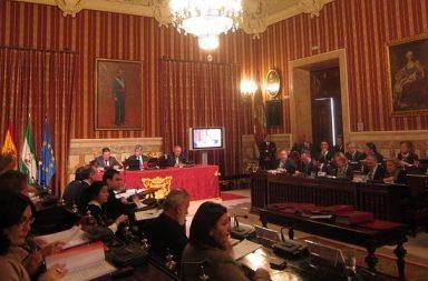 Pleno municipal de Sevilla.