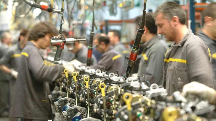 Trabajadores de Renault.