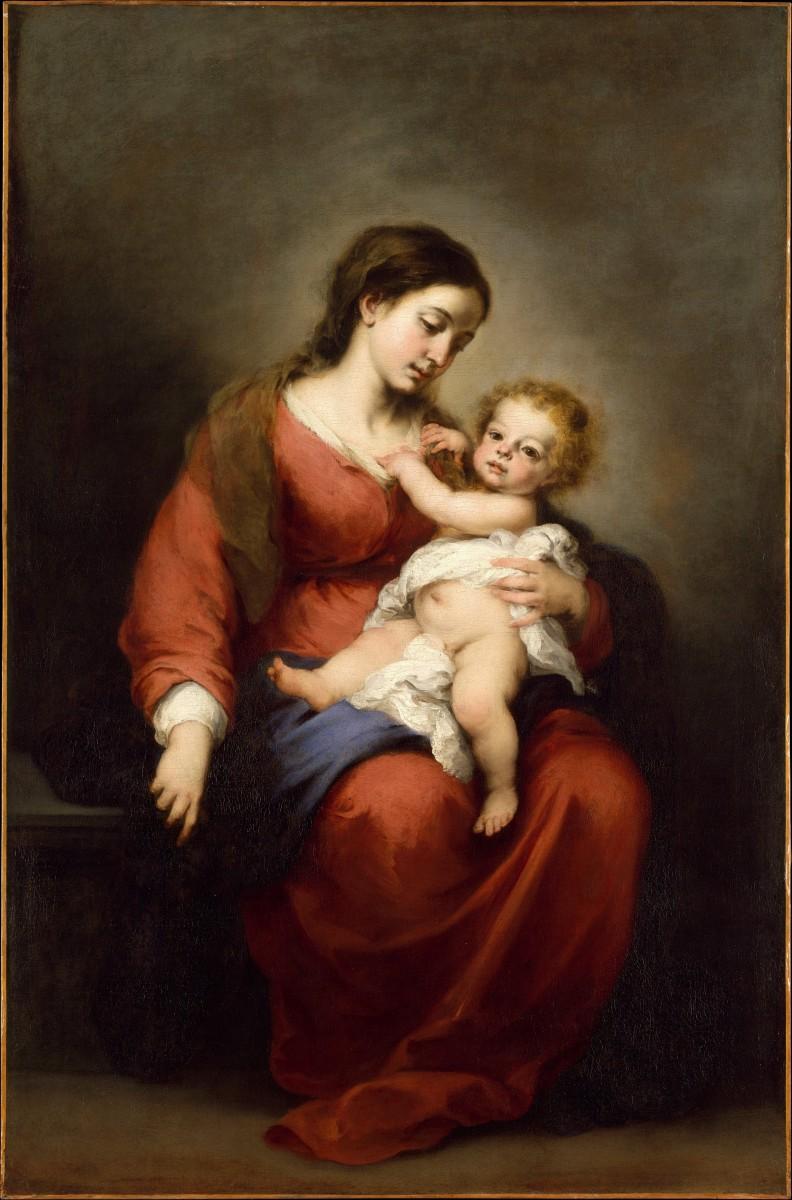 Virgen con el niño.