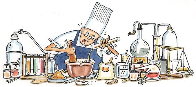 Dibujo con recetas de cocina