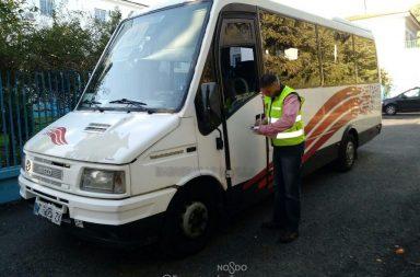 El bus escolar interceptado
