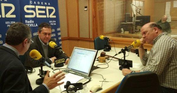 Espadas, en la entrevista con Radio Sevilla.