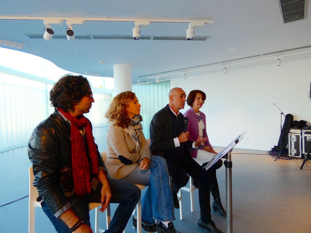 Un momento de la presentación de la Factoría Cultural del Polígono Sur