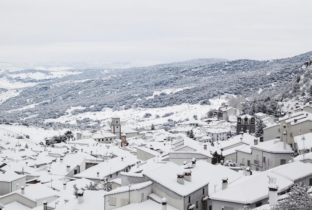 Grazalema, nevado
