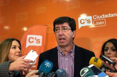 Juan Marín portavoz de Ciudadanos en Andalucía
