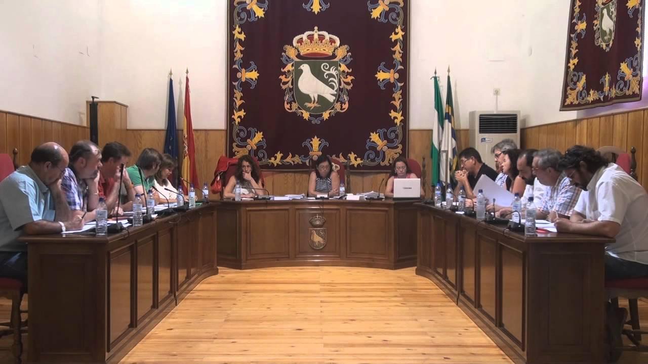 Pleno municipal en Palomares del Río