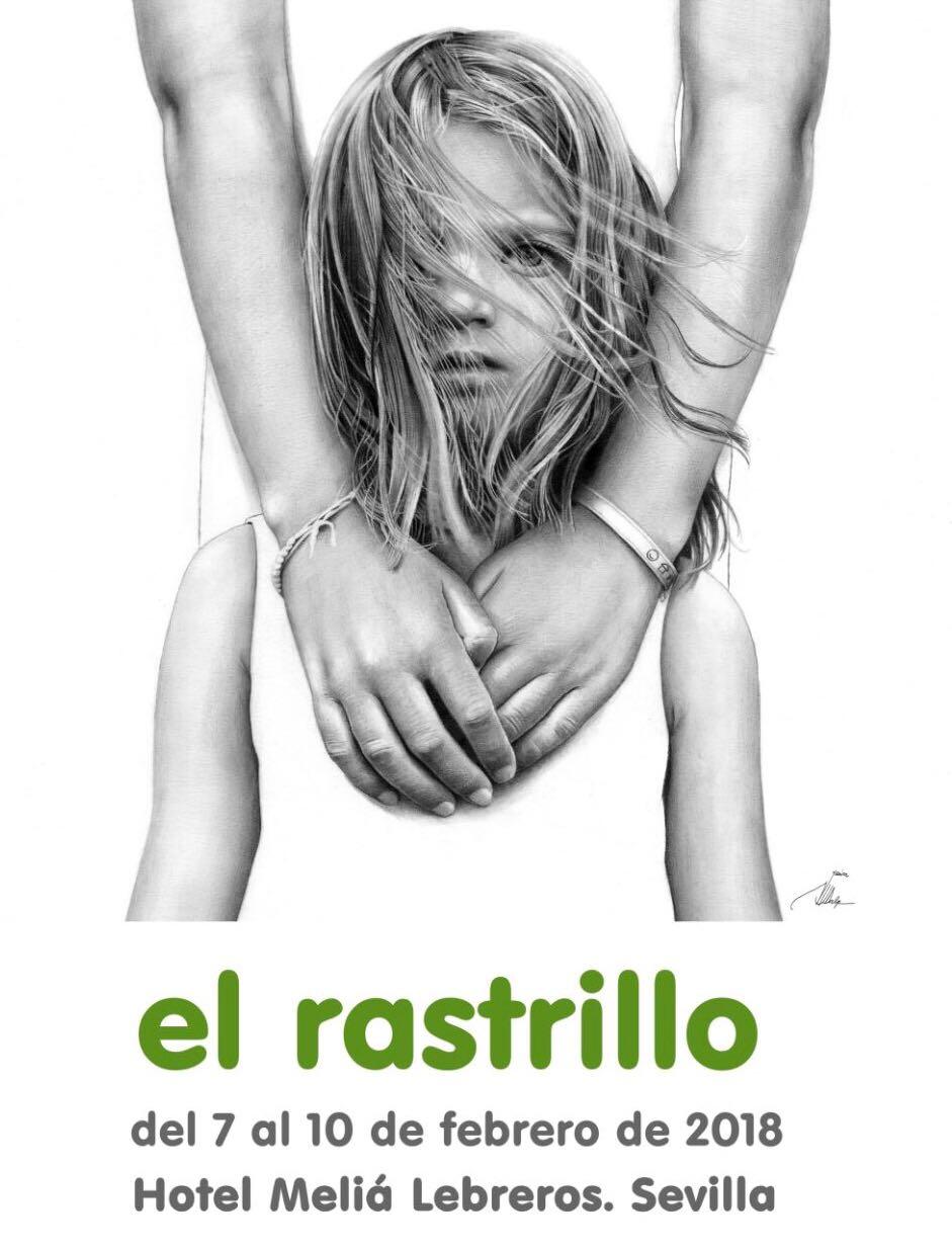 Cartel del rastrillo Nuevo Futuro, obra de Javier Sánchez-Dalp