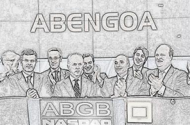 Directivos de Abengoa en su salida a Bolsa