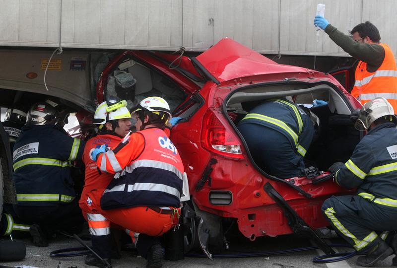 Fotografía de archivo de un accidente en la N-IV