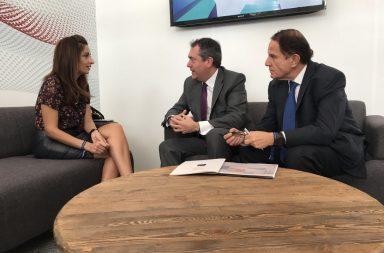 Juan Espadas con responsables municipales de Santiago de Chile y Ciudad de México