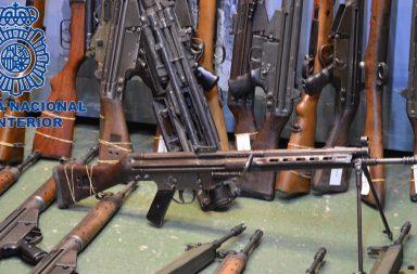 Armas incautadas a ETA