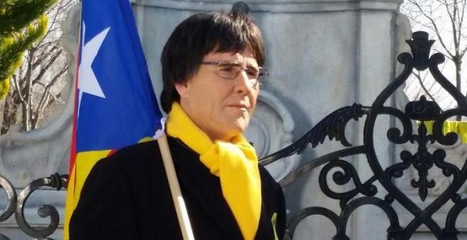 Joaquín Reyes disfrazado de Puigdemont. Foto: Diario Público