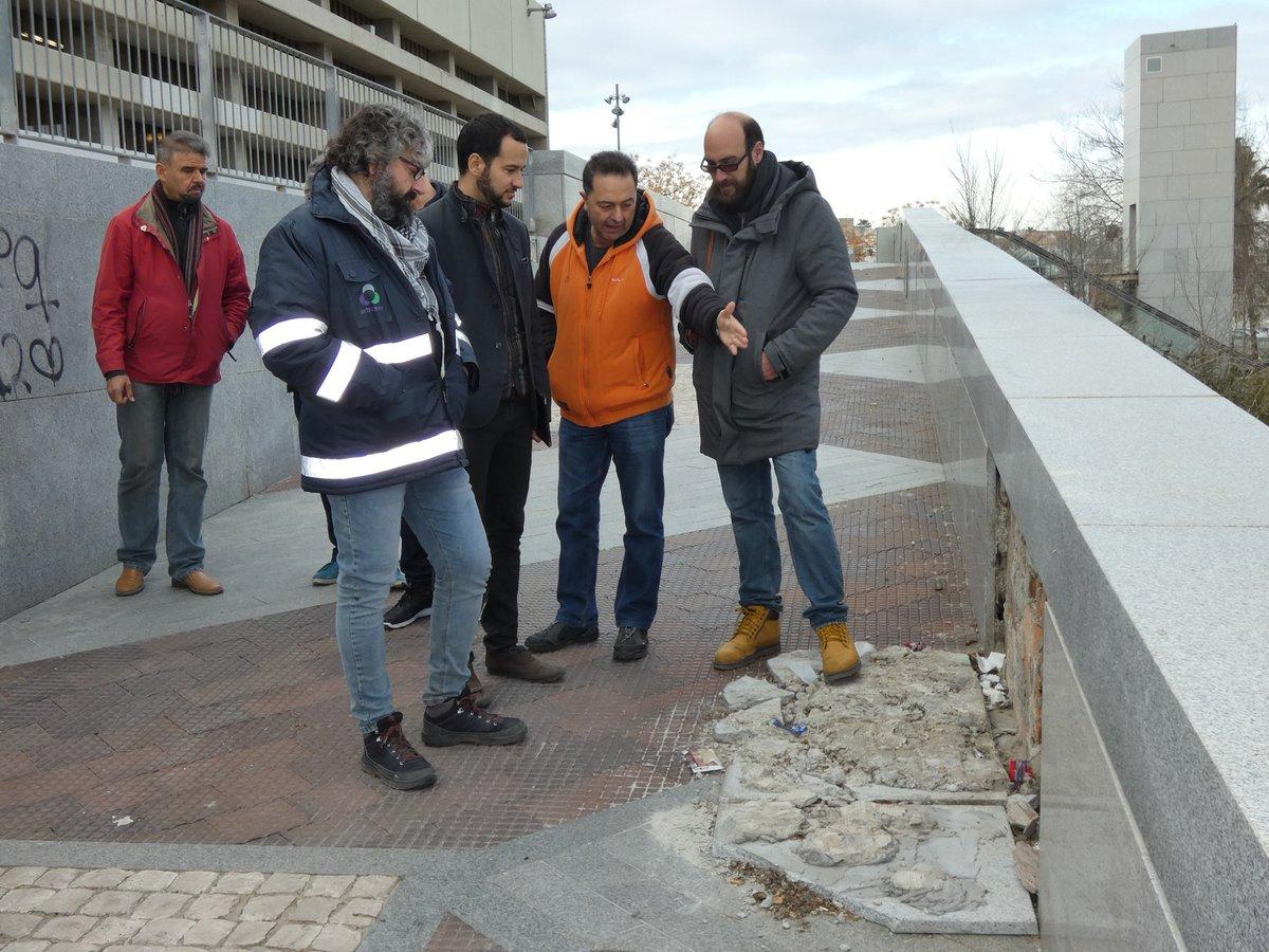 González Rojas visita la zona junto a representantes de la plataforma Entre Lindes