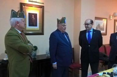Los generales Herrero y Abancés , el Coronel Pérez Bravo y el ganadero Rodríguez de la Borbolla