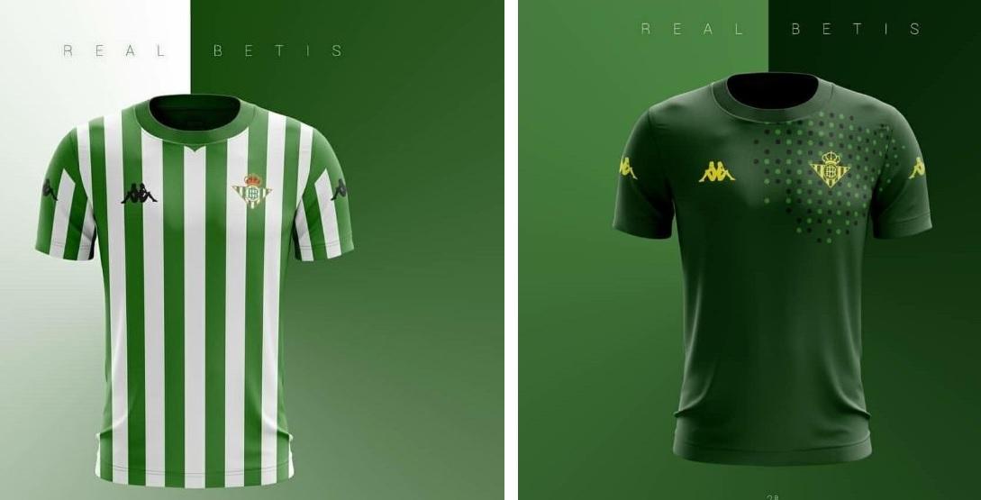 Los bocetos de las dos primeras equipaciones del Real Betis con Kappa para  la 2018 19. 9be99ef1da60a