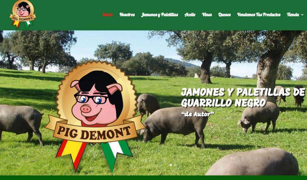 Esta es la página web de la empresa Pig Demont