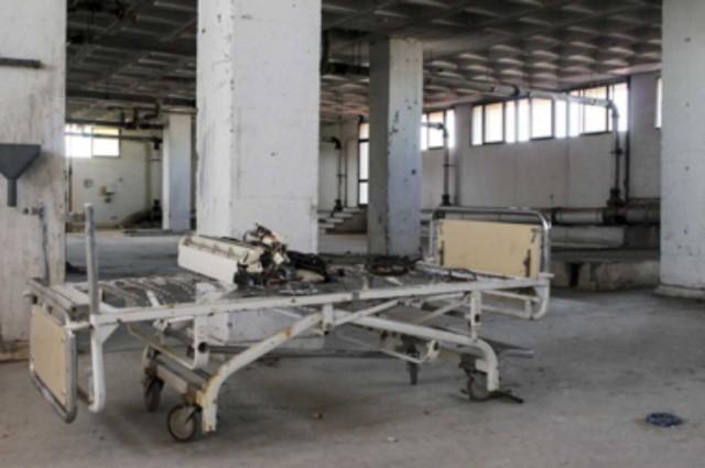 Interior del Hospital Militar de Sevilla, uno de los más avanzados en 2004