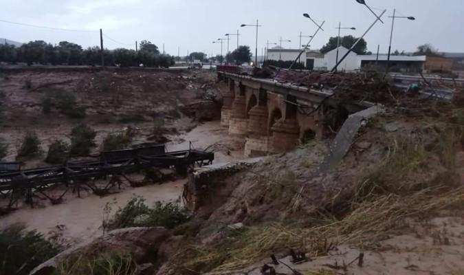 Destrozos en el pueblo de El Rubio