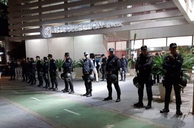 La Policía tuvo que proteger el hotel NH ante las amenazas de la ultraizquierda
