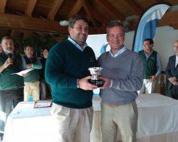 Santiago Urquijo y José Luis Gross, ganadores de la I Copa Bergantín de golf en Pineda