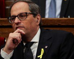 Quim Torra afirma que no apoyará a Pedro Sánchez en los Presupuestos
