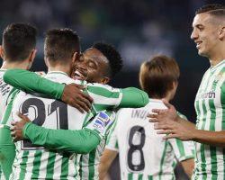 El Real Betis se mete en octavos de la Copa con una plácida goleada al Racing