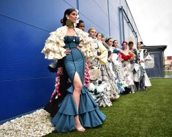 Almudena Ros y Lara Ávila ganadoras VII Certamen Moda Flamenca IKEA Sevilla