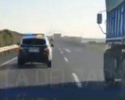 Vídeo. Espectacular persecución de la Policía en la A-49 hasta detener un vehículo a la fuga